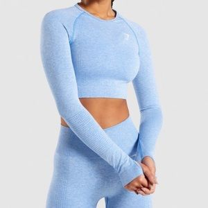 Gymshark vital seamless blue crop top (SOLD OUT)
